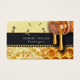 Cartão do fazendeiro da fazenda da abelha do
