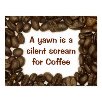 Cartão do feijão de café
