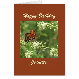 Cartão do feliz aniversario, borboleta, costume