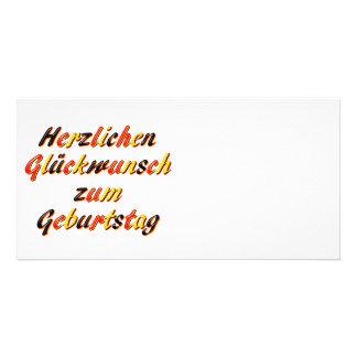 Cartão do feliz aniversario cartões com foto personalizados