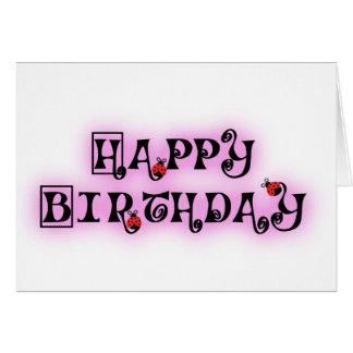 Cartão do feliz aniversario com Ladybeetles
