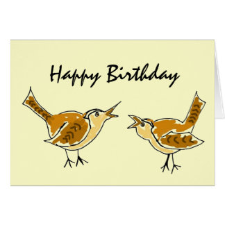 Cartão do feliz aniversario da carriça do AL