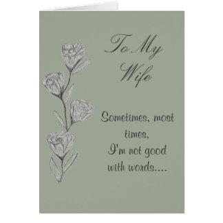 Cartão do feliz aniversario da esposa da arte da