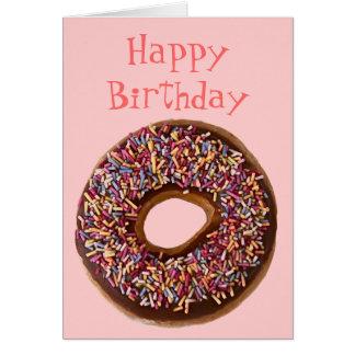 Cartão do feliz aniversario da filhós