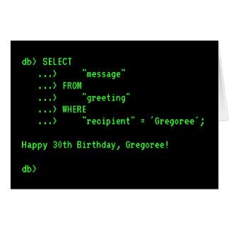 Cartão do feliz aniversario da pergunta da base de