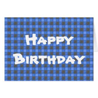 Cartão do feliz aniversario da verificação da