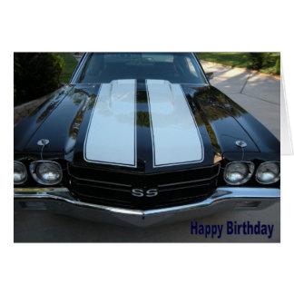 Cartão do feliz aniversario de 70 Chevelle