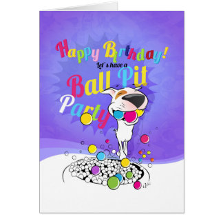 Cartão do feliz aniversario de bull terrier