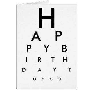 Cartão do feliz aniversario de carta de olho