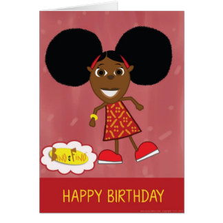 Cartão do feliz aniversario de Fino
