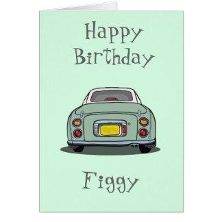 Cartão do feliz aniversario de Nissan Figaro do