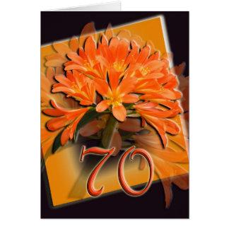cartão do feliz aniversario do 70