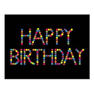 Cartão do feliz aniversario do arco-íris do partid cartoes postais