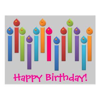 Cartão do feliz aniversario do arco-íris do partid cartao postal