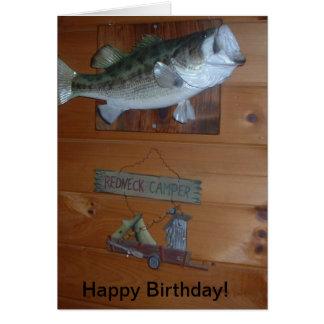 Cartão do feliz aniversario do campónio