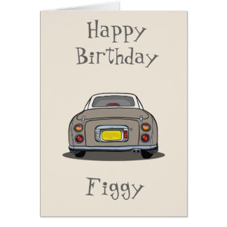 Cartão do feliz aniversario do carro de Nissan