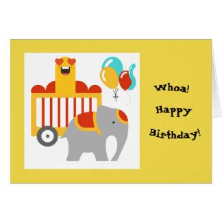 Cartão do feliz aniversario do circo