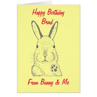 Cartão do feliz aniversario do coelho