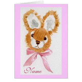 """Cartão Do """"feliz aniversario do coelho mel""""! brinquedo"""