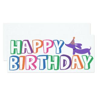 Cartão do feliz aniversario do Dachshund por muito