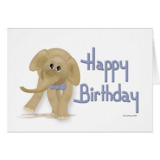 Cartão do feliz aniversario do elefante