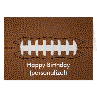 Cartão do feliz aniversario do futebol
