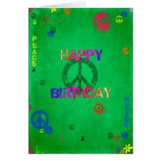 Cartão do feliz aniversario do Hippie