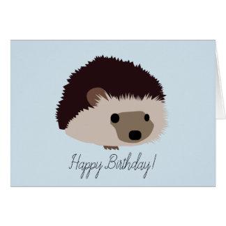 Cartão do feliz aniversario do ouriço