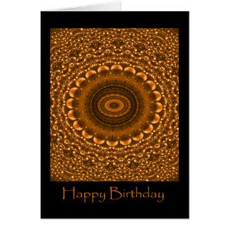 Cartão do feliz aniversario do ouro