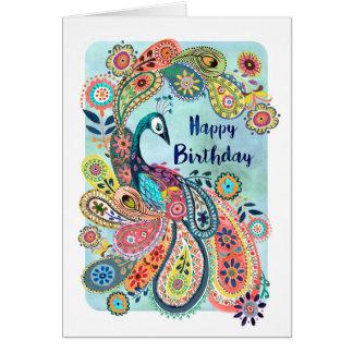 Cartão do feliz aniversario | do pavão