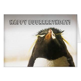 Cartão do feliz aniversario do pinguim