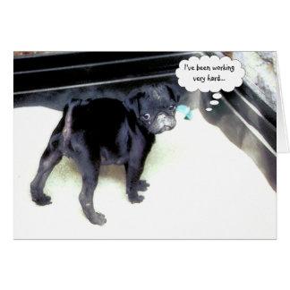 Cartão do feliz aniversario do Pug de Sandy