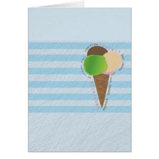 Cartão do feliz aniversario do sorvete
