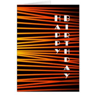 Cartão do feliz aniversario do vintage do art deco