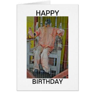 Cartão do feliz aniversario dos caráteres do