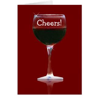 Cartão do feliz aniversario dos elogios do vinho