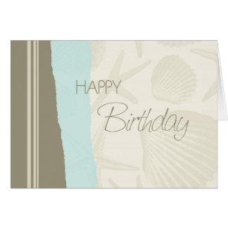 Cartão do feliz aniversario dos Seashells
