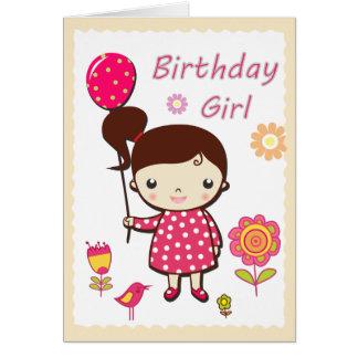 Cartão do feliz aniversario: Menina do aniversário