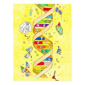 Cartão do feliz aniversario para nerd da ciência