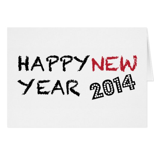 Cartão do feliz ano novo 2014