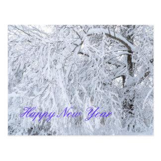 Cartão do feliz ano novo cartão postal