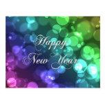 Cartão do feliz ano novo cartões postais