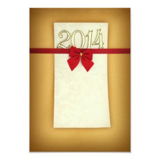 Cartão do feliz ano novo convites personalizado