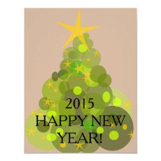 Cartão do feliz ano novo convite 10.79 x 13.97cm