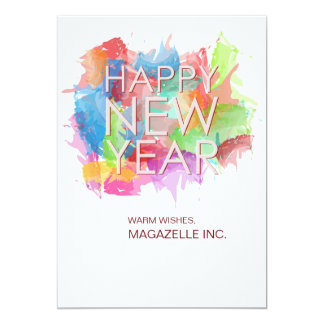 Cartão do feliz ano novo convite 12.7 x 17.78cm
