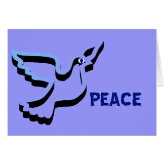 Cartão do feliz ano novo da pomba da paz