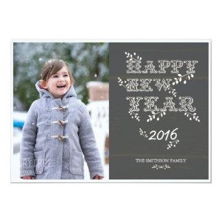 cartão do feliz ano novo & do ano novo das folhas
