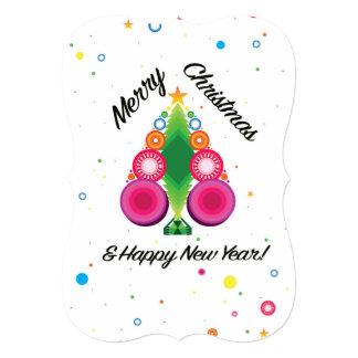 Cartão do feliz ano novo do Feliz Natal Convite 12.7 X 17.78cm