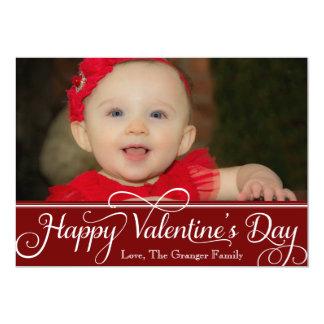 Cartão do feliz dia dos namorados convite 12.7 x 17.78cm