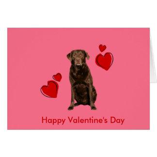 Cartão do feliz dia dos namorados de Labrador do